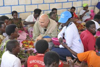 Volker Türk, Assistant High Commissioner for Protection visits Mahama refugee camp, in Rwanda.