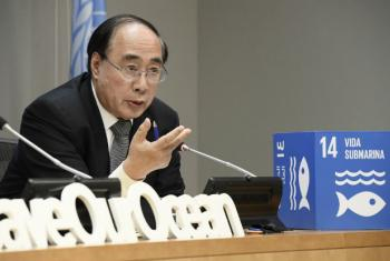 Wu Hongbo, Under-Secretary-General for Economic and Social Affairs, briefs journalists on the Ocean Conference which took place at UN headquarters from 5 to 9 June.