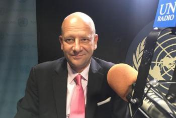 UN Resident Coordinator based in Delhi, Yuri Afanasiev, at UN Radio Studio in New York.