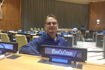 Zack Rago at the United Nations HQ.