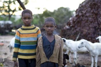 Nomadic children in Nigeria. File