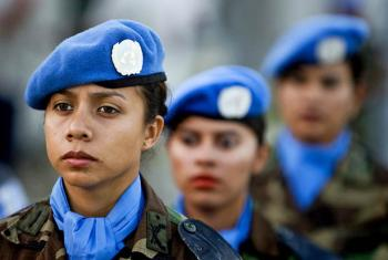 Members of the Guatemalan contingent of the United Nations Stabilization Mission in Haiti (MINUSTAH) participate in a medal award ceremony in recognition of their service. Port-au-Prince, Haiti.