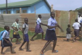 Children at play at Christ the King Primary School in the South Sudanese town of Yei.