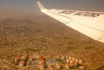 Aerial view of the western province of Herat, Afghanistan.