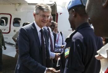 UN Peacekeeping chief visited Malakal where more than 30,000 displaced people live on UN PoC site.