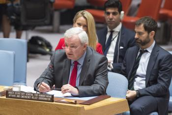 Stephen O'Brien, UN relief chief, addressing the Security Council in June.