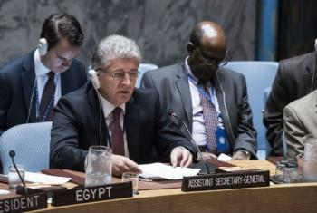 Miroslav Jenča of Slovakia, assistant Secretary-General for Political Affairs, speaks at the UN Security Council on the situation in the Middle East, including the Palestinian question.
