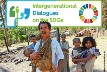 "The ""wisdom, experience, energy and ideals"" of the old and the young are vital to realizing the 17 Sustainable Development Goals. Image: UN DPI"