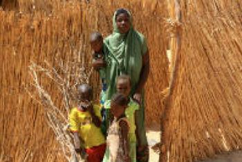 Families fled their home in north-east Nigeria in fear of the militant group Boko Haram. File