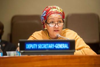 Deputy Secretary-General Amina Mohammed addresses the Economic and Social Council and Peacebuilding Commission meeting on the Sahel. UN file