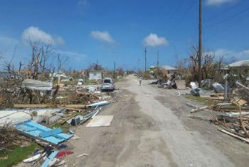 Damage on 8 September 2017 in Antigua and Barbuda from Hurricane Irma.