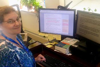 Katherine Durnin, head of the UN English translation service.