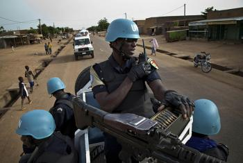 Senegalese UNPOL Officers patrol the streets of Gao, Mali. Photo MINUSMA/Marco Dormino