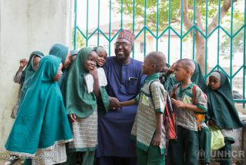 Mr Mustapha and the students of Future Prowess Islamic Foundation School, Maiduguri, Borno State, Nigeria.