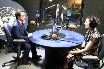 Neil Walsh, head of global cybercrime for UNODC, in conversation with Paulina Greer, for our UN News Podcast series, The Lid Is On.