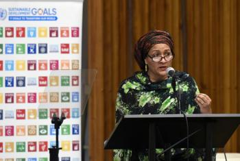 Deputy Secretary-General Amina Mohammed addresses the General Assembly informal meeting on the status of the implementation of the Sustainable Development Goals (SDGs):
