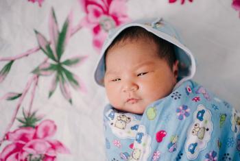 Newborn in Aktau city, Mangystau oblast, Kazakhstan.