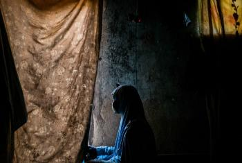 A teenage former kidnap victim of Boko Haram, pictured in a shelter in Maiduguri, Borno State, Nigeria.