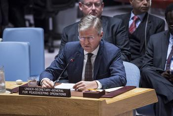 Jean-Pierre Lacroix, Under-Secretary-General for Peacekeeping Operations, briefs the Security Council on the situation in South Sudan.
