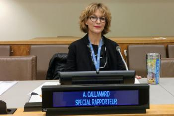 UN expert Agnes Callamard at UN Headquarters in New York. Photo