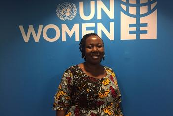 Iroka Chidinma, from the National Space Research and Development Agency (NASRDA), at the Space for Women expert meeting held at UN Women in New York. UN News/Dianne Penn