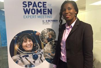 Bolo Basuti from Botswana at the Space for Women expert meeting held at UN Women in New York.