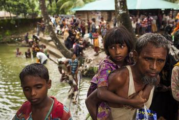 Minors make up at least 60 per cent of the Rohingya refugees who have crossed the border to Bangladesh over the past few weeks. Highly traumatized, they are arriving malnourished and injured after walking for days.
