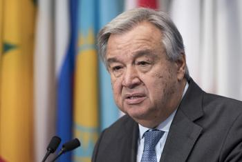 Secretary General António Guterres speaks to the media about his upcoming trip to Central African Republic.