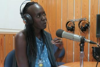 Nyagoa Nyuon, speaking to Radio Miraya about her Catwalk to Freedom initiative.
