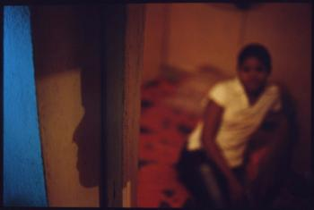 Trafficked sex worker in Cambodia.