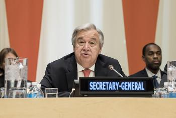 Secretary-General António Guterres addresses the high-level pledging conference on building a more climate-resilient community, convened by the UN and the Caribbean Community (CARICOM).