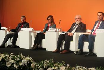 Alanna Armitage, UNFPA's Regional Director for Eastern Europe and Central Asia (second from left), speaking at the Global South Development Expo 2017 in Antalya, Turkey.