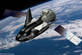 Dream Chaser® on Orbit. Image courtesy of Sierra Nevada Corporation.