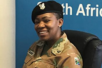 Major Seitbebasto Pearl Block, recipient of the 2017 UN Military Gender Advocate of the Year Award.