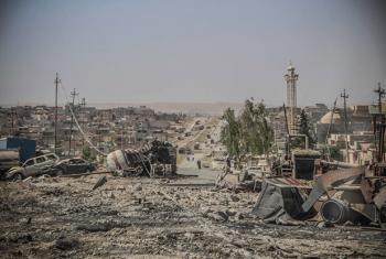 Pictured here the destruction in 17 Tammuz district, western Mosul, Iraq, one of the most important districts in Mosul.