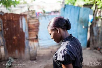 Esther Cajou, 17, walks in the alleys in Batey Alemán in San Pedro de Macoris, in Dominican Republic.(2015) Tens of thousands of Dominicans of Haitian descent were deprived of their Dominican nationality following a 2013 ruling by the Constitutional Court