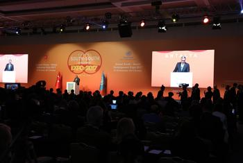 Envoy of the Secretary General on South South Cooperation Jorge Chediek at the opening of the Global South South Development Expo in Antalya, Turkey. DPI / Maoqi Li
