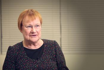 Tarja Halonen, former President of Finland and member of the Secretary-General's High-level Advisory Board on Mediation. UN News/Alban Mendez de Leon