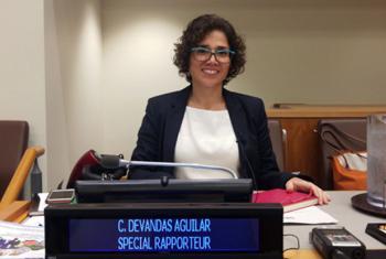 Catalina Devandas Aguilar on 24 October 2017 in New York.
