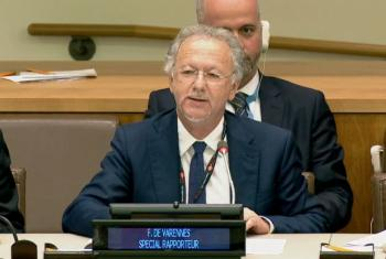 Fernand de Varennes, the United Nations Special Rapporteur on Minority Issues. (screen grab)
