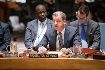 Serge Brammertz, Prosecutor of the International Criminal Tribunal for the Former Yugoslavia (ICTY) and Prosecutor of the International Residual Mechanism for Criminal Tribunals (MICT), briefs the Security Council in 2016.