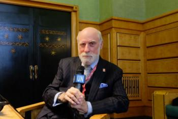 "Dr. Vinton Cerf, Chief Internet Evangelist at Google and one of the ""founding fathers"" of the Internet."
