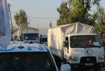 A convoy bound for East Ghouta, Syria. (file)