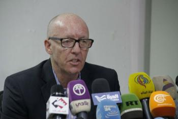Jamie McGoldrick, UN Resident Coordinator and Humanitarian Coordinator for Yemen, holds press briefing.