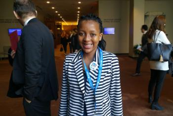 Lathitha Beyile, 14, from South Africa was an honourary UN Spokesperson on World Children's Day in November.