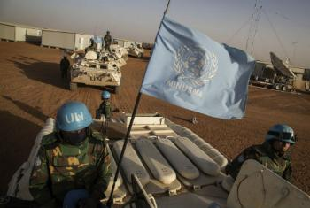 UN Peacekeepers on MINUSMA vehicles in Mali. (file)