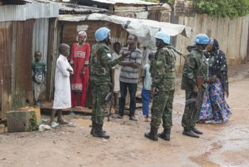 MINUSCA Peacekeepers Patrol PK5 Neighbourhood in Bangui, CAR.