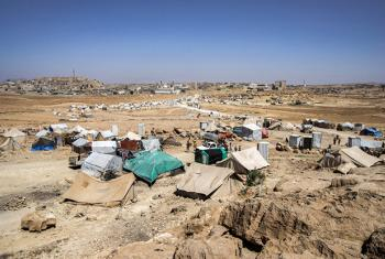 A settlement of internally displaced persons in Amran governorate, Yemen. (file)