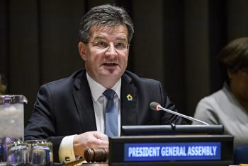 General Assembly President Miroslav Lajčák addresses an informal meeting of the GA on his priorities for 2018.
