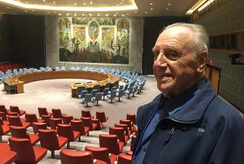 Robert Kaminker at the Security Council chamber in UN Headquarters in New York.